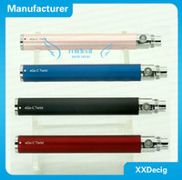 Wholesale OEM factory seller ego twist eGo C twist ego twist Optional V V Adjustable E Cigarette Battery Capacity Variable Voltage battery DHL