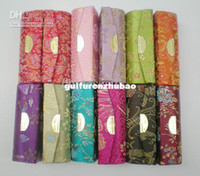 lip balm tube - Lipstick Case with Mirror Lip gloss Tube Silk Fabric Metal clasp Lip Balm Tubes Free