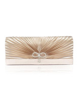 Wholesale Elegant Pleated Rosette Bow Silk Women s Evening Bag u7 ve