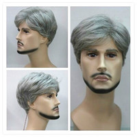 Wholesale New Fashion Short silver gray Man cosplay Wig