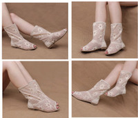 Wholesale New Lace Short Hollow Out hook Flower Drum Fish Mouth boots cool boots female boots summer boots