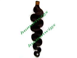 "Body Wave 24"" 1g pcs,Keratin Glue Tip,Stick I-tip Hair Extension, Indian Human Hair Extensions,Dark Brown #2,Free Shipping"