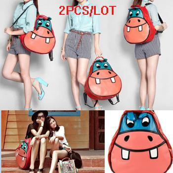 2PCS/LOT Cute designer school backpacks for girls cartoon bag women ...