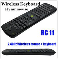 Wholesale Measy RC11 Wireless GHz Keyboard Air Mouse Remote Control Gyroscope For Google Android Mini PC TV Palyer