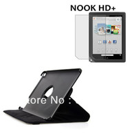 For Barnes noble NOOK HD+ 9' For Barnes noble NOOK HD+ 9' Leather Rotating 360 Degree Folio Stand Leather Skin Case Cover + Film For Barnes Noble Nook HD+ 9 9' Tablet