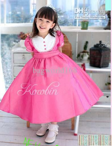 2017 Baby Girl Clothing Formal Attire Bridal Veil Wedding Dress ...
