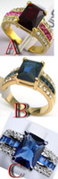 tanzanite ring - Fashion Jewelry Genuine Tourmaline Tanzanite K GP Ring Size