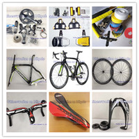 Wholesale Complete bike bicycle pinarello Dogma movistar THINK2 DIY customize full carbon fiber wheels frame groupset headlebar saddle pedals