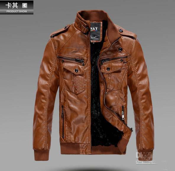 Brown Mens Jacket Photo Album - Reikian