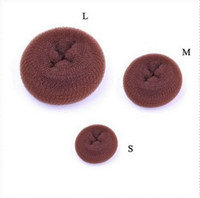 Wholesale Hot selling Kintted Hanwork Nylon Hair Bun Hair Donut maker hair bun roll hair bun ring