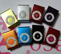 Wholesale Portable Mini Clip MP3 Player Metal Clip MP3 Music Media Player gb metal body mp3 player support GB GB GB GB fashion design Players
