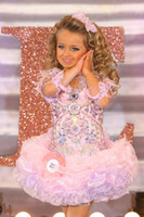 barrett pictures - Isabella Barrett Light Pink Feather Organza girls pageant dresses