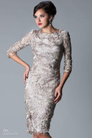 New Arrivals Mother of Bride Dresses Sexy Long Sleeves Lace ...