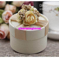 Wholesale Beach WeddingEuropean Style New Wedding Flower Candy Box Cylindrical Wedding Favors Holder Gift Gold
