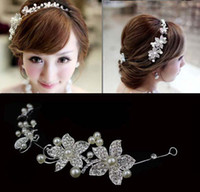 Wholesale Fashion Wedding Bridal Hair Jewelry Pearl Charming Bridal Hair Accs with Pearl sample HE02 in