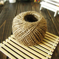 Wholesale 75yards pc Natural Jute Twine Cord Ply DIY Decorative Handmade Accessory Hemp Rope For Papercrafting