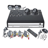 Wholesale NEW Channel DVR Kit with Smartphone Viewing x Outdoor Cameras x Dome camera