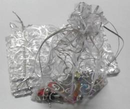 Wholesale Hot Silver Hot silver Vine Pattern Organza Gift Bags x12cm