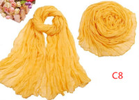 Wholesale Cheap Women Scarf Solid Color Cotton Voile Colors Mix W2