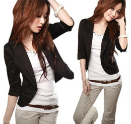 Wholesale Lowest Price New Women s Sexy Black One Button Small Suit Jacket Women Sexy Jackets Size S XXXL