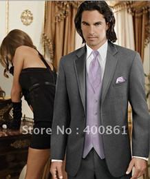 Wholesale Haut Groom Tuxedos Best man Suit Wedding Groomsman Men Suits Bridegroom Jacket Trousers Tie Vest ok