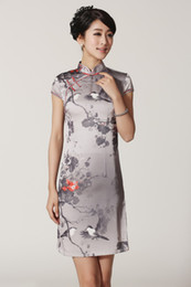 Wholesale Tradition China Tang Cheongsam Gray