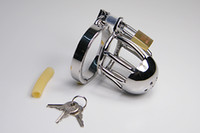 Cheap Sex toy chastity belt stainless steel chastity lock small cage short cage Male Chastity adult product BDSM bondage fetish