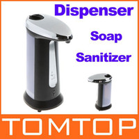 Wholesale Automatic Sensor Soap amp Sanitizer Dispenser Touch free Kitchen Bathroom Grey Freeshipping Dropshipping H8682
