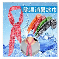 silk head scarves - Summer Cooling Scarf Cool Water Band Speed to Cool Towel Cooling Scarf Ties Neck Scarves by DHL