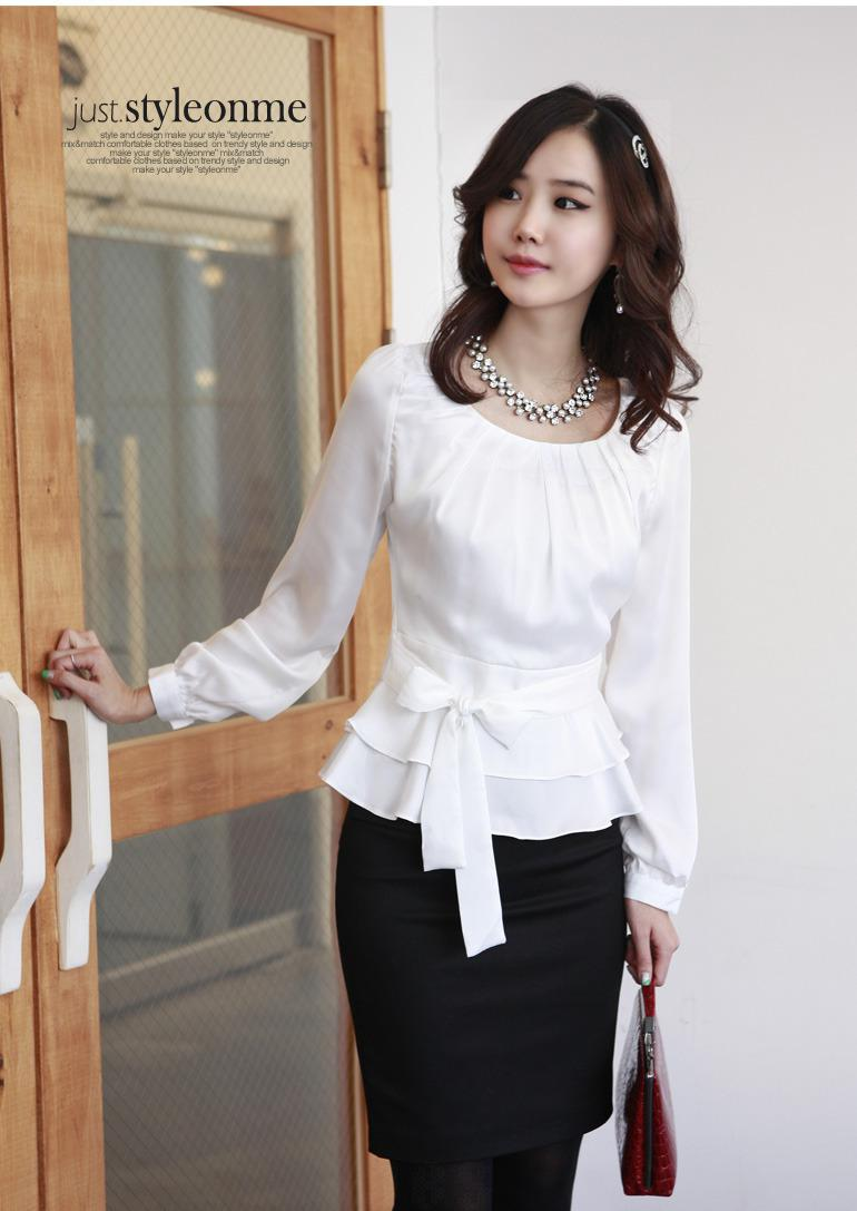Womens Formal White Blouse