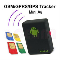 SIM Card Mini A8 Global Tracker  Mini A8 Global Tracker Quad-Band GSM GPRS GPS Tracker Audio Bug Monitor with Sound-control Dialing SOS 2013 Newest Free shipping