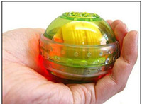 Wholesale Exercise Balls Led Light Hand Wrist Strength Exercise Massage Massager Ball Green Color