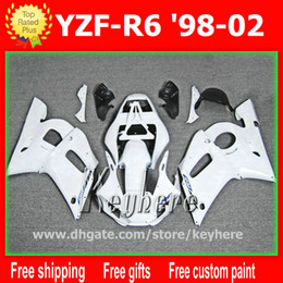 Wholesale Free gifts Customize fairing kit for YZF R6 YZFR6 fairings G3h white black motorcycle body work
