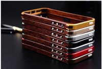 Wood metal Bumper case for iphone 5 5S