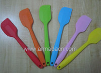 Wholesale mixed colorLarge high quality one piece silicone spatula scraper cream butter knife nontoxic cm long