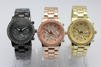 Wholesale Men s Golden Dial Date Quartz Stainless Steel Crystal Watches Cheap Wristwatch edison2011