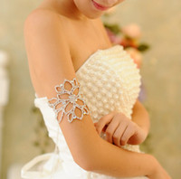 Wholesale elegant Wedding Bridal Jewelry crystal armlet arm bracelet headpiece use as hair accessories ja001
