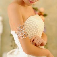 Wholesale Crystal Arm Accessories - elegant Style Wedding Party Bridal Jewelry crystal armlet arm bracelet headpiece use as hair accessories ja001