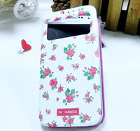 Leather plastic screen - Floral case leather Cover Open Windows NO Plastic Screen Protector for Samsung Galaxy S4 SIV i9500 with Retail packages