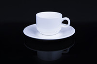 Wholesale Coffee Mug Corundum Hardness Porcelain Mugs with Matching Saucers ml classic ceramic coffe cup Hot Sale CF