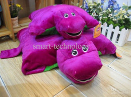 Wholesale 1pcs big size New Barney Child s Best Friend Cushion Pillow Plush Doll Purple cartoon Pillows