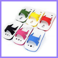 Wholesale slipper sandal shoes idea Touch silicon gel stand case cover skin shell for Samsung Galaxy S3 i9300 S4 i9500 sandal case