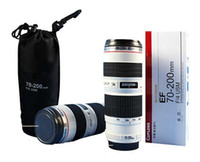 Wholesale EF mm F USM Lens Thermos Coffee Cup Stainless Steel Mug White Y4020B
