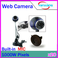 Wholesale DHL Round Head mega Web Cam PC Camera Webcam With Microphone For Computer PC Laptop RW PC
