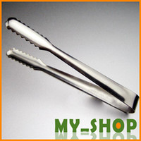 Wholesale BBQ Accessories Food Clip Barbecue Stainless Steel Ice Tongs sugar Charcoal BBQ JJ0902