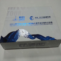 Wholesale blue and white porcelain box factory package for U disk products full color print paper box packaging low price good quality