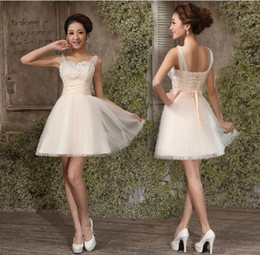 Wholesale Wedding Dresses Sexy mini knee length classmate Simple Sweetheart A Line Sweetheart party dress cocktail party dress evening dresses PT