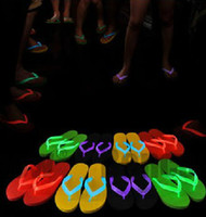 Wholesale 2013 fashion summer LED sandals colors Glow