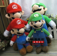 Free Shipping 2 Lot Super Mario Bros. Stand MARIO & LUIG...