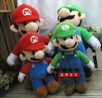 Free Shipping New Super Mario Bros. Stand LUIGI Plush Doll S...